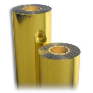 Thermotransfer Farbband GOLD metallic 90mm x 200m außen Schleifendruck Karten