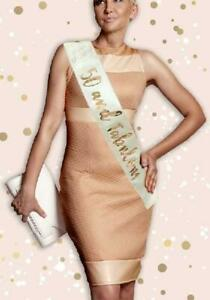 Cream & Gold 50th Birthday Sash 50 and Fabulous Birthday Party Accessory