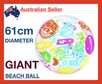 .61m Giant Inflatable Beach Balls Pool Water Toys Transparent Swimming Ball Swim