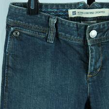 Gap Ultra Low Rise Cropped Skinny Jeans Womens Size 6 R Denim Capris Shorts Blue