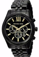 NEW Michael Kors Lexington Chronograph Black Dial Steel Men's Watch MK8603