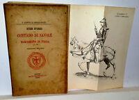 Studi Storici sul CONTADO DI SAVOIA e Marchesato in Italia  torino 1897
