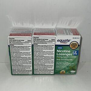 Equate Mini Nicotine Lozenge, 2 mg , Mint Flavor, 3 BOXES 27 CT EACH (81)