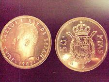 MONEDA 50 PESETAS JUAN CARLOS I 1983 SC DE CARTUCHO.PTAS