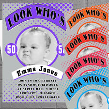 12 x Adult Birthday Party Invitations Look Who's 30th 40th 50th 60th | H1987
