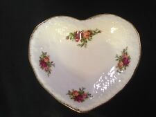 Royal Albert England Old Country Roses Heart Shaped Dish