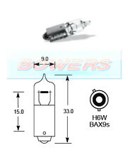 LUCAS LLB434 12V VOLT 6W H6W BAX9S SINGLE CONTACT HALOGEN LIGHT BULB BAYONET
