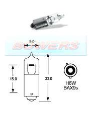 Lucas llb434 12V Volt 6W H6W BAX9S contact unique Halogène Ampoule baïonnette