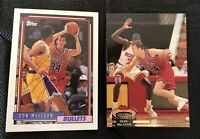 Autographed DON MacLEAN basketball cards 1992-93 Topps 333 & Stadium Club 330