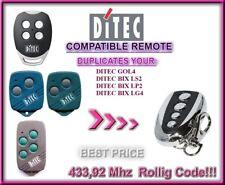 Ditec GOL4, BIXLP2 / BIXLS2 / BIXLG4 compatible remote control / CLONE 433,92Mhz