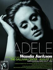 Adele / Wanda Jackson 2011 Salt Lake City Concert Tour Poster-Pop,Blue-eyed Soul