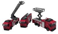 3x Feuerwehrauto 12,5cm Feuerwehr Löschfahrzeug Wasserspritze Teile Metall
