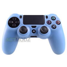 Soft Silicone Gel Case Skin Cover For Playstation 4 PS4 Controller Baby Blue