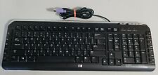 HP Multimedia Keyboard Model 5189 Black & Silver Wired PS2 P/N 5188-6077
