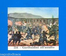 CENTENARIO UNITA D'ITALIA - Figurina-Sticker n. 216 - ASSALTO GARIBALDINI -Rec