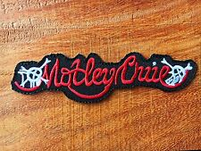 Motley Crue Sew Iron On Patch Embroidered Rock Band Heavy Death Metal Music Logo