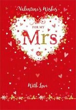 Valentines Day Card Wife Mrs Heart