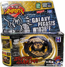 Gold Black Hole Sun Galaxy Pegasus / Pegasis Beyblade NIP + Launcher - US SELLER