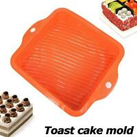 Silicone Mould Toast Cake Pan Brownies Fudge Tray Bakes Mold Tools E5W7