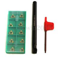 SNR0010K11 Lathe Threading Boring Turning Tool Holder With 10Pcs 11IR A60 Insert