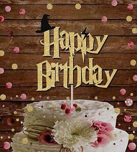 HARRY POTTER HAPPY BIRTHDAY GLITTER CAKE TOPPER CAKE DECORATION