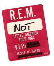 REM ~  1984 VIP BACKSTAGE PASS. 8x10cms.