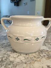 Longaberger Traditional Green Cookie Jar / Bean Pot