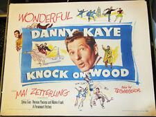 KNOCK ON WOOD! '54 DANNY KAYE ORIGINAL CLASSIC 1/2-SHEET FILM POSTER!