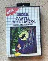 CASTLE OF ILLUSION - SEGA MASTER SYSTEM GAME CIB Complete Mickey Mouse Disney