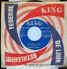 Eugene Church ~ Sixteen Tons + 1 ~ King 45 RPM # 5715 ~ Stock Copy M- 1963