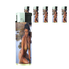 Italian Pin Up Girl D9 Lighters Set of 5 Electronic Refillable Butane