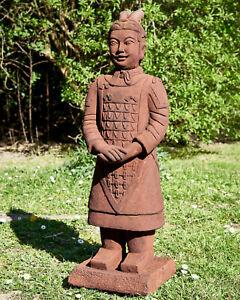 Krieger stehend Terrakotta Armee Figur Garten Statue Märchenwald Skulptur