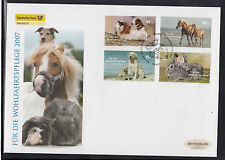 K 01 ) Germany 2007 beautiful Large FDC - Dogs Dogs Puppie Rabbit Horse Hamster