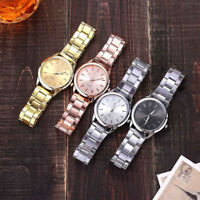 Casual Quartz Stainless Steel Band Womens Wrist Watch Round Analog Ladies Watch