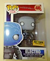 Funko Marvel Spider-Man 2 Electro Hot Topic Glow In Dark Metallic Damaged Box