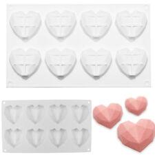 Luxury Diamond Heart Dessert 3D Cake Mold Art Mousse Silicone Mould Chocolate