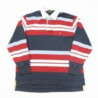 90s Vintage NAUTICA Rugby Shirt | Mens L | Sweatshirt Long Sleeve Polo Retro