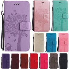 Flip Embossed Patterned PU Leather Card Pocket Strap Kickstand Case Lot Cover KT