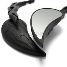 Black Motorcycle Mirrors - Billet Stem - For Harley Davidson FLHX Street Glide