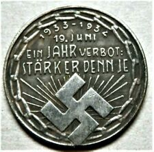 1934 WW2 3rd REICH GERMAN COMMEMORATIVE COLLECTORS COIN SWASTIKA