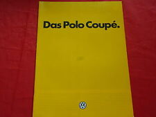 VW Polo II 86C Coupe + Coupe GT Prospekt Brochure von 1984