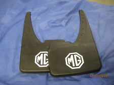 MGB ROADSTER , GT  /  MIDGET PAIR FRONT OR REAR MG LOGO MUDFLAPS ***