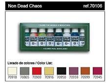 Vallejo Model Colors Undead Chaos Paint Set X8 17ml VAL 70106