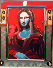 MONA LISA by PETER MAX serigraph SIGNED & NUMBERED   RARE