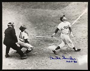 Duke Snider Signed Photo 11x14 Baseball Brooklyn Dodgers Autograph HOF Inscr JSA