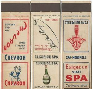 3 DIFFERENT SPA-CHEVRON BOTTLED WATER EARLY MATCH COVERS