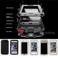 Shockproof Aluminum Gorilla Glass Metal Case Cover for iPhone 6 & 6S 7/7Plus 8/X