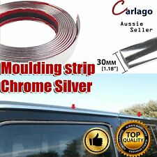 30mm  x 12M Moulding Trim Chrome Silver Styling Auto Window Grille Body Strip