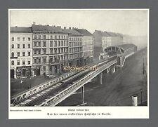 Hochbahn Berlin Kottbuser Tor Bahnhof Eisenbahn Bahn Bauwerk Geschäfte 1902