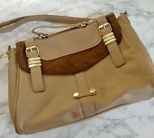 Steve Madden Tote Brown Tan Handbag Purse Bag Satchel CrossBody Bag